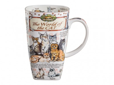 "Кружка ""the world of the cat"" 600 мл. Porcelain Manufacturing (D-264-217)"
