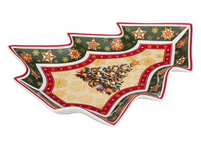 "Блюдо ""christmas collection"" 26*21 см высота=3 см Hangzhou Jinding (586-055)"